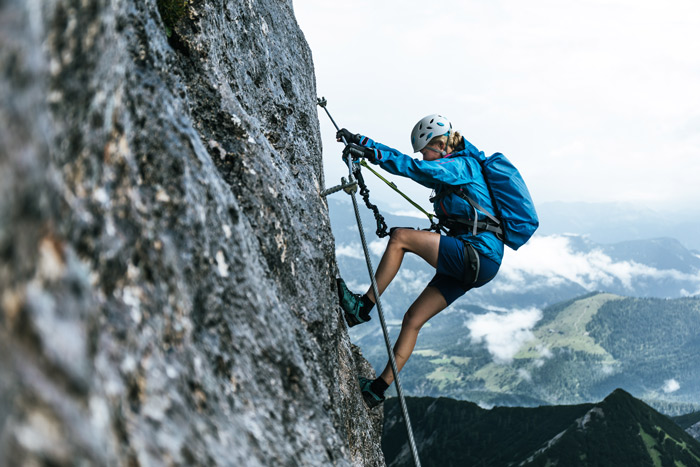 Klettersteig Tessin : Bergsteiger klettersteig testival im rofan magazin