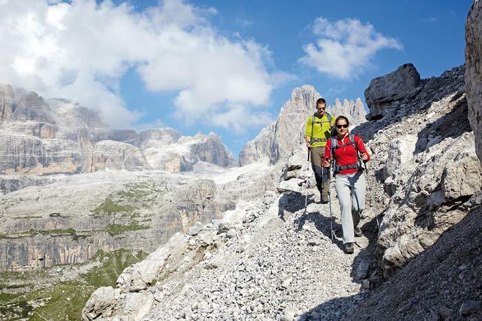 Unterwegs auf dem Dolomiti Brenta Trek