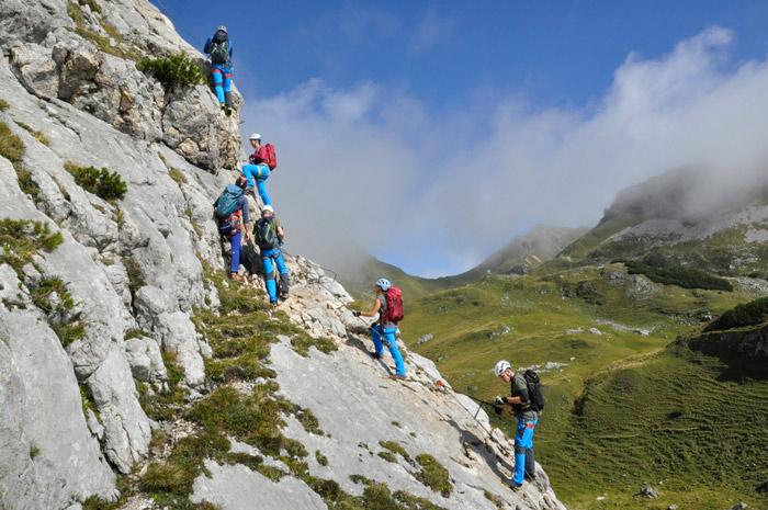 Bergsteiger Klettersteig Testival am Achensee