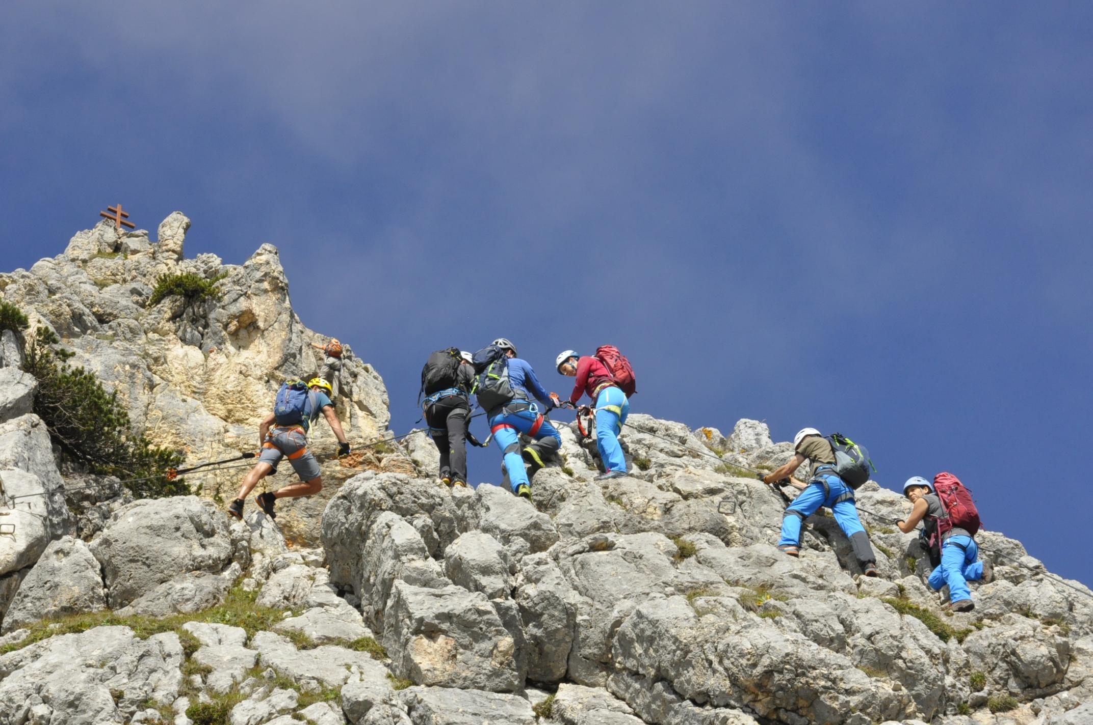 Klettersteigset Mit Seilklemme : Bergsteiger klettersteig testival magazin