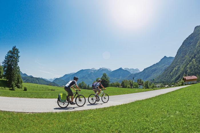 Auf dem Alpe Adria Radweg zwischen Golling und Kuchl