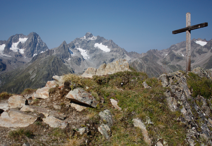 Die Verpeilspitze (3425 m) vom Gahwinden am Geigenkamm aus gesehen