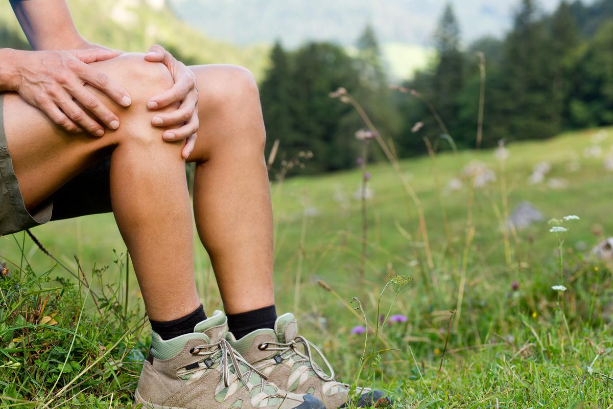 Knieschmerzen Wandern