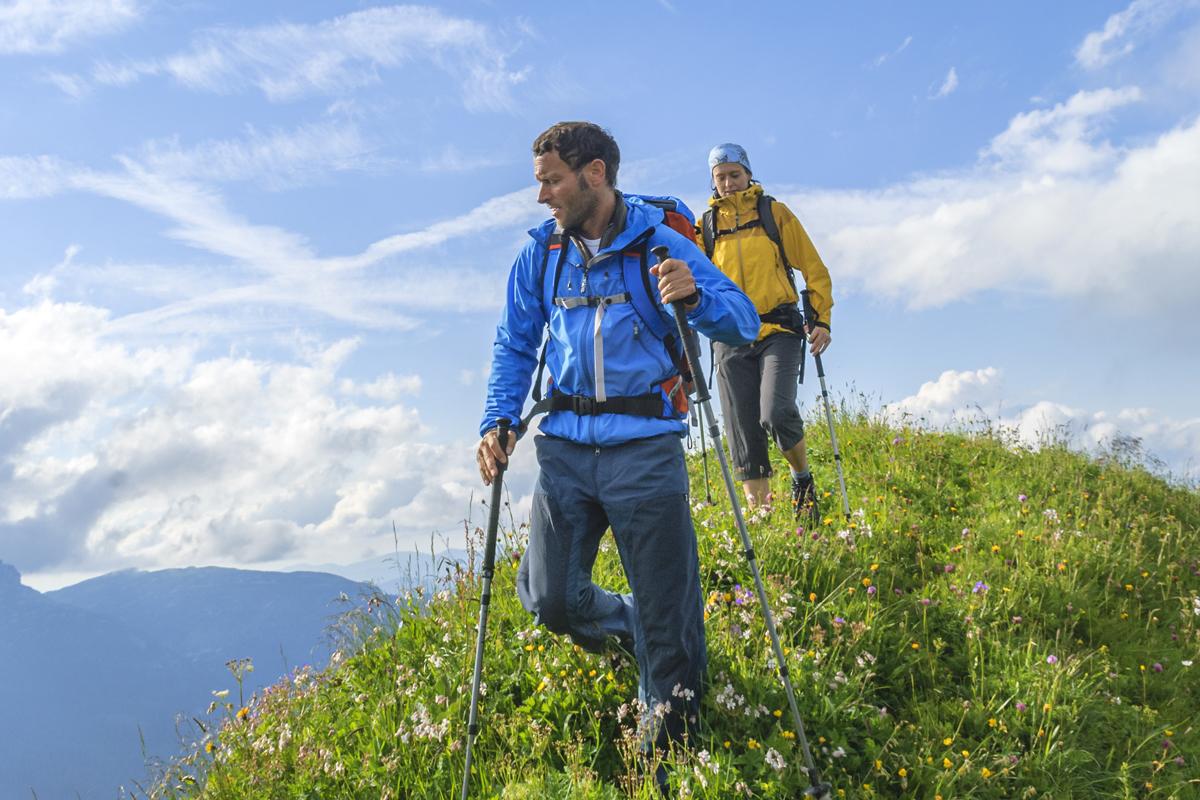 Richtige Gehtechnik beim Bergabwandern