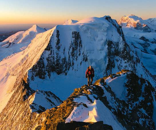 Der Alphubel in den Walliser Alpen