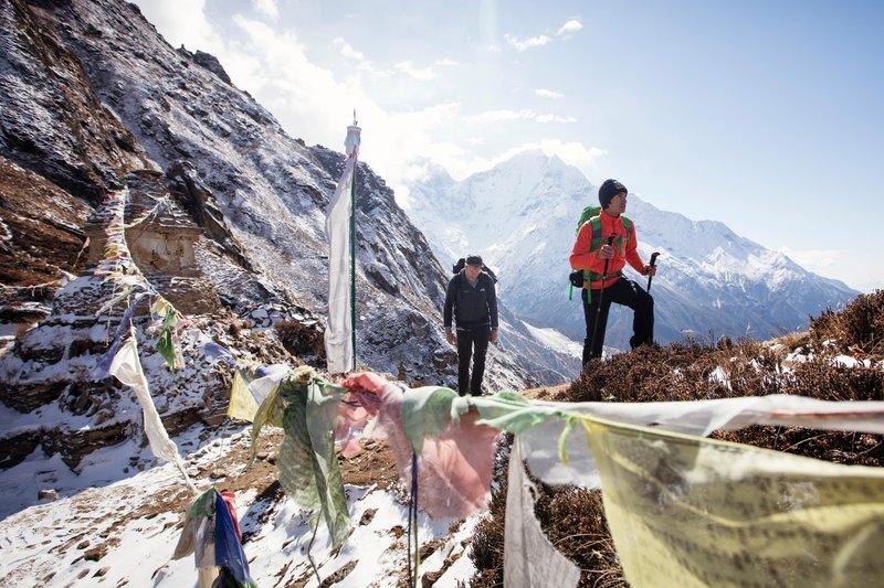 David Lama und Conrad Anker akklimatisieren sich.