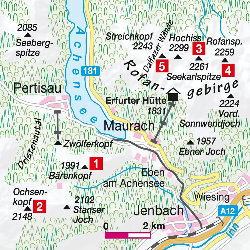 Übersichtskarte Achensee