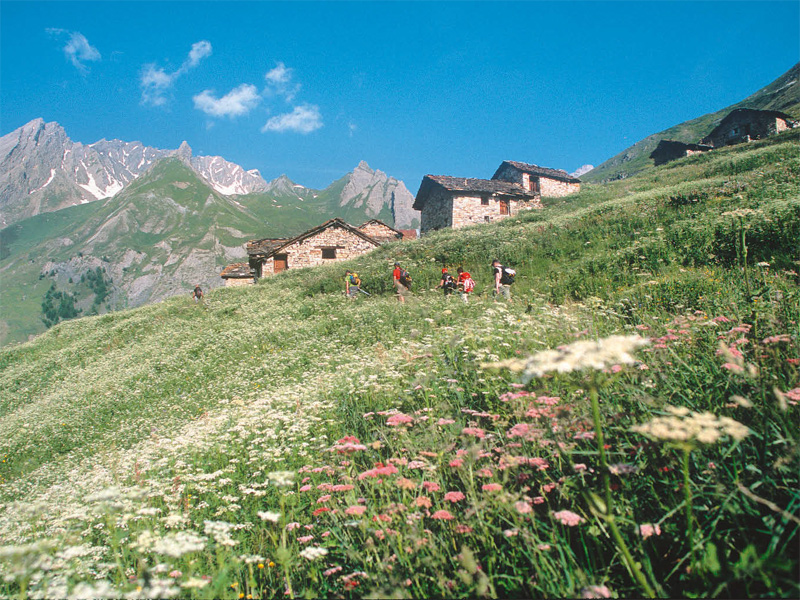 Anstieg zum Col Malatrà (2928 m), dem höchsten Punkt der Alta Via Nr. 1