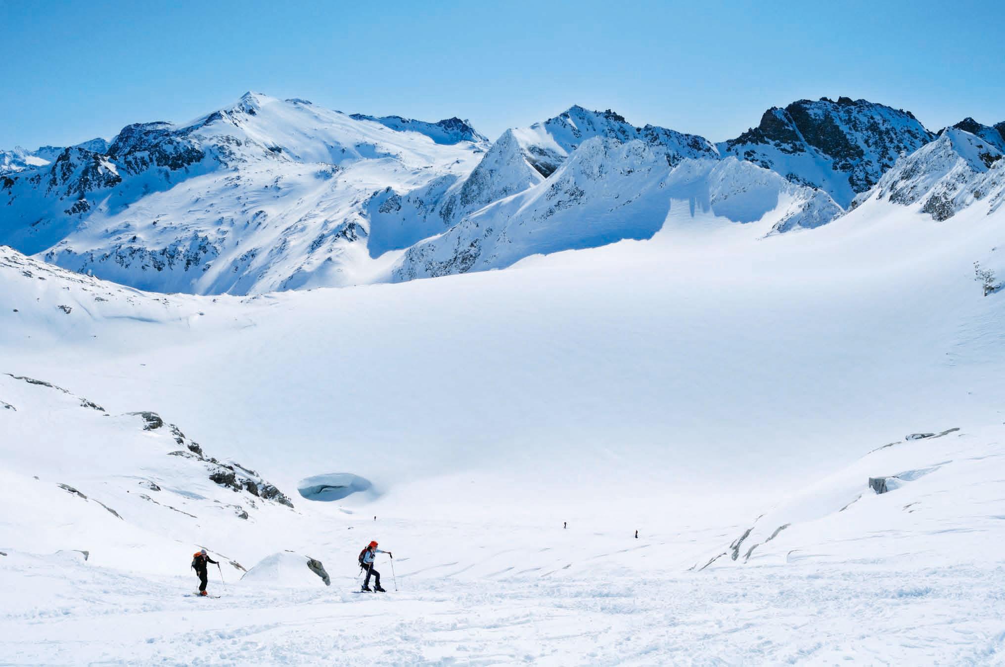 Skitourenklassiker in den Alpen