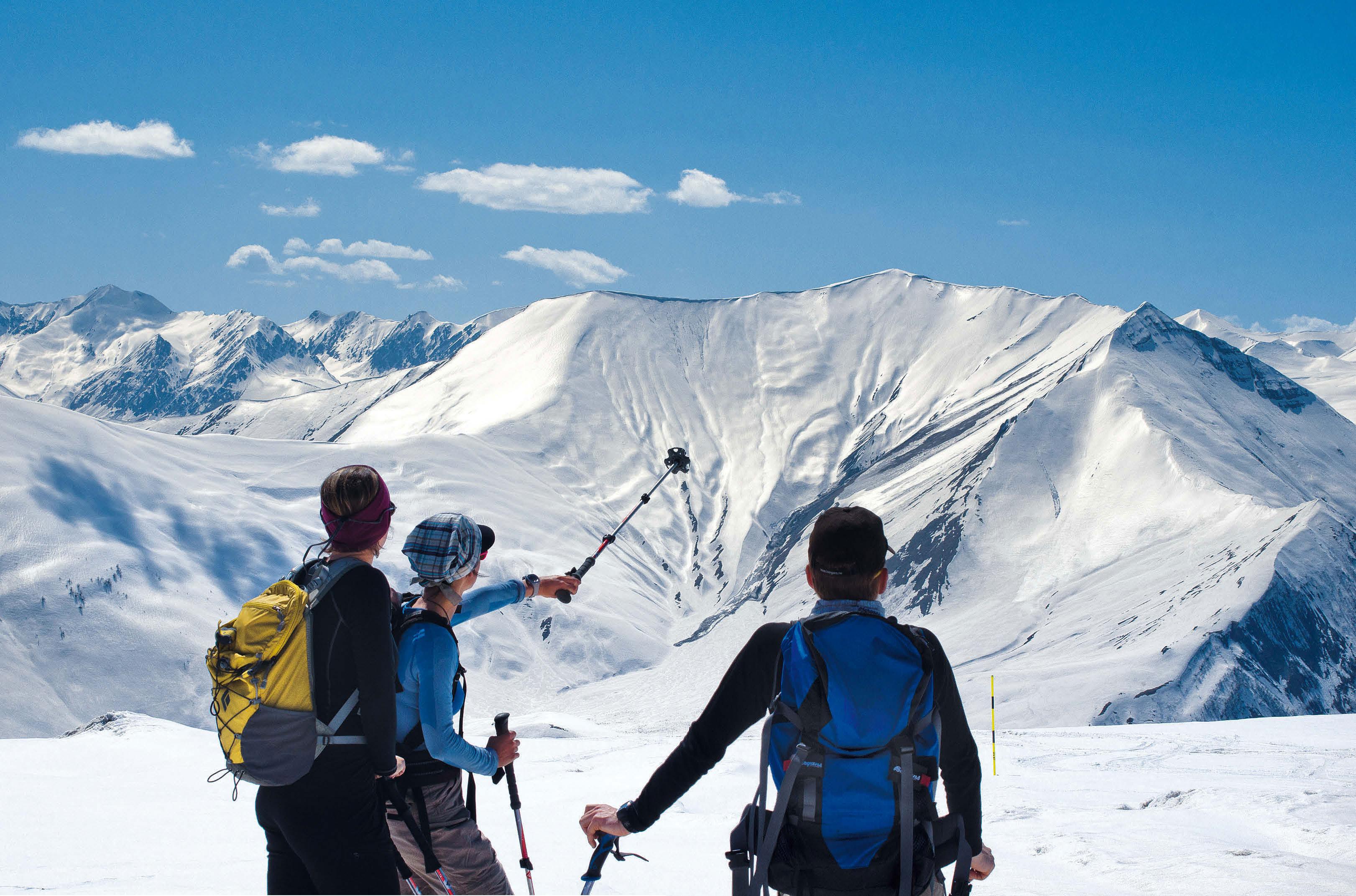 Klettergurt Skitour : Am balkon der kontinente skitour im kaukasus bergsteiger magazin