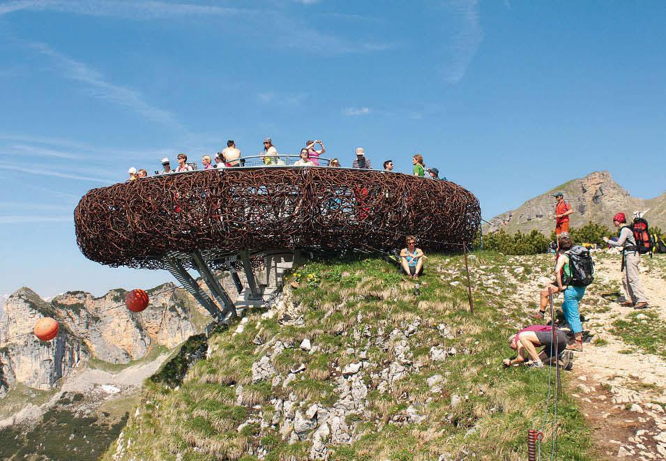 Optimierte Aussicht? Der Adlerhorst am Gschöllkopf im Rofan kostete 200 000 Euro.