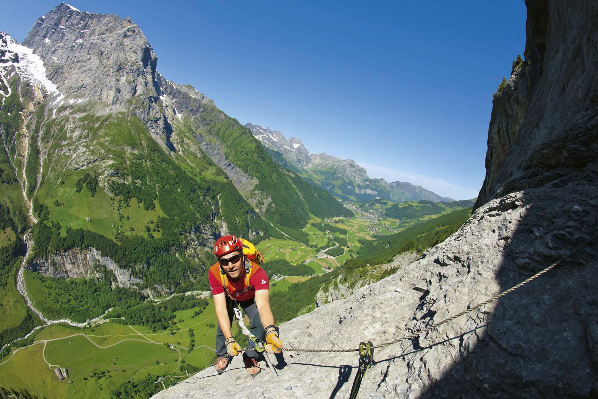 Klettersteig Ostschweiz : Klettersteig mit atemberaubender sicht ins tal schweiz tourismus