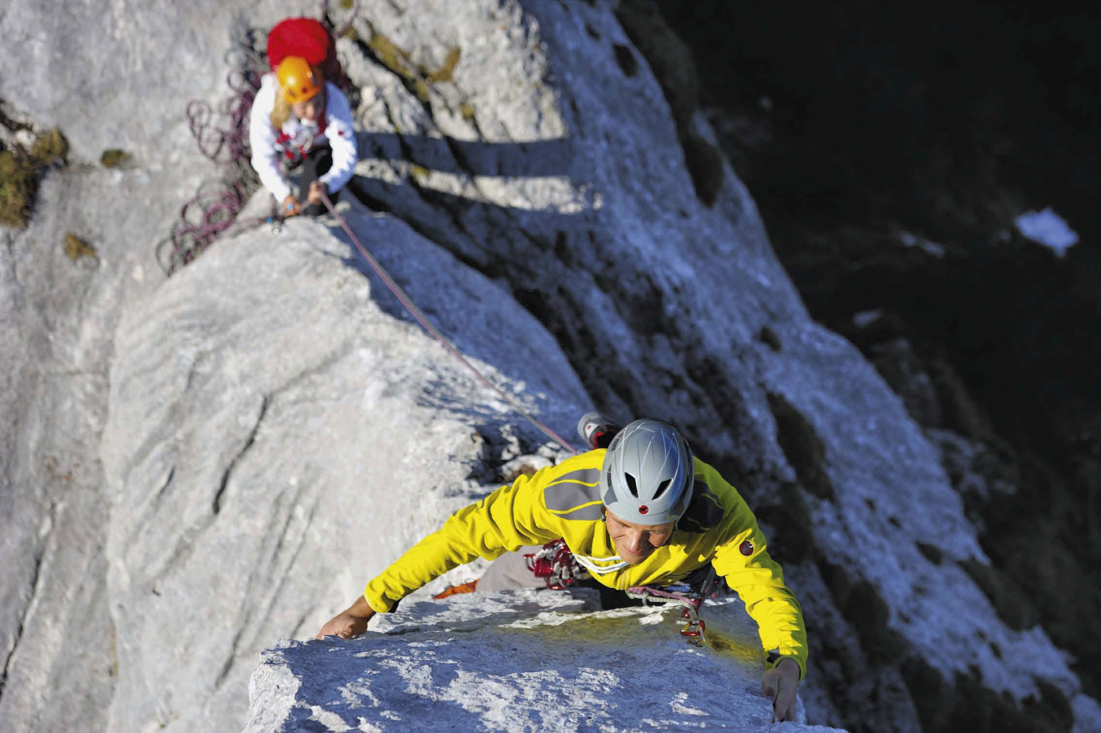 Zum Alpinklettern an die Kampenwand