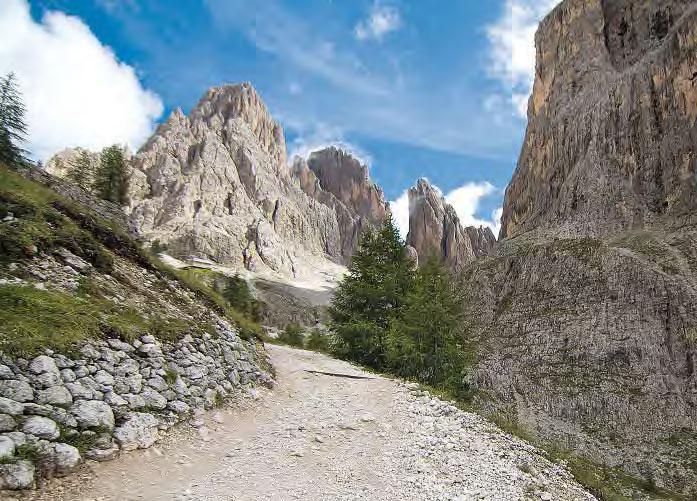 Kurz, aber knackig ist der Klettersteig zum Col Rodella