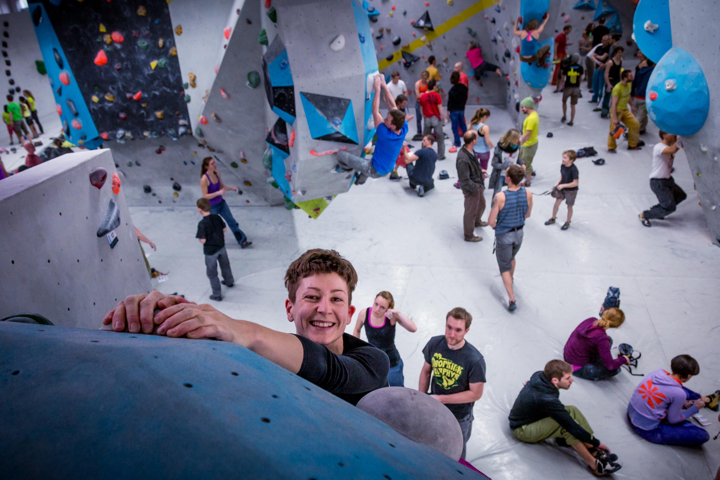 Beim Spaßwettkampf Day of the Boulder kann jeder mitmachen