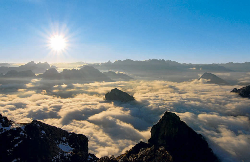 Über den Wolken am Dolomiten Höhenweg Nr. 1