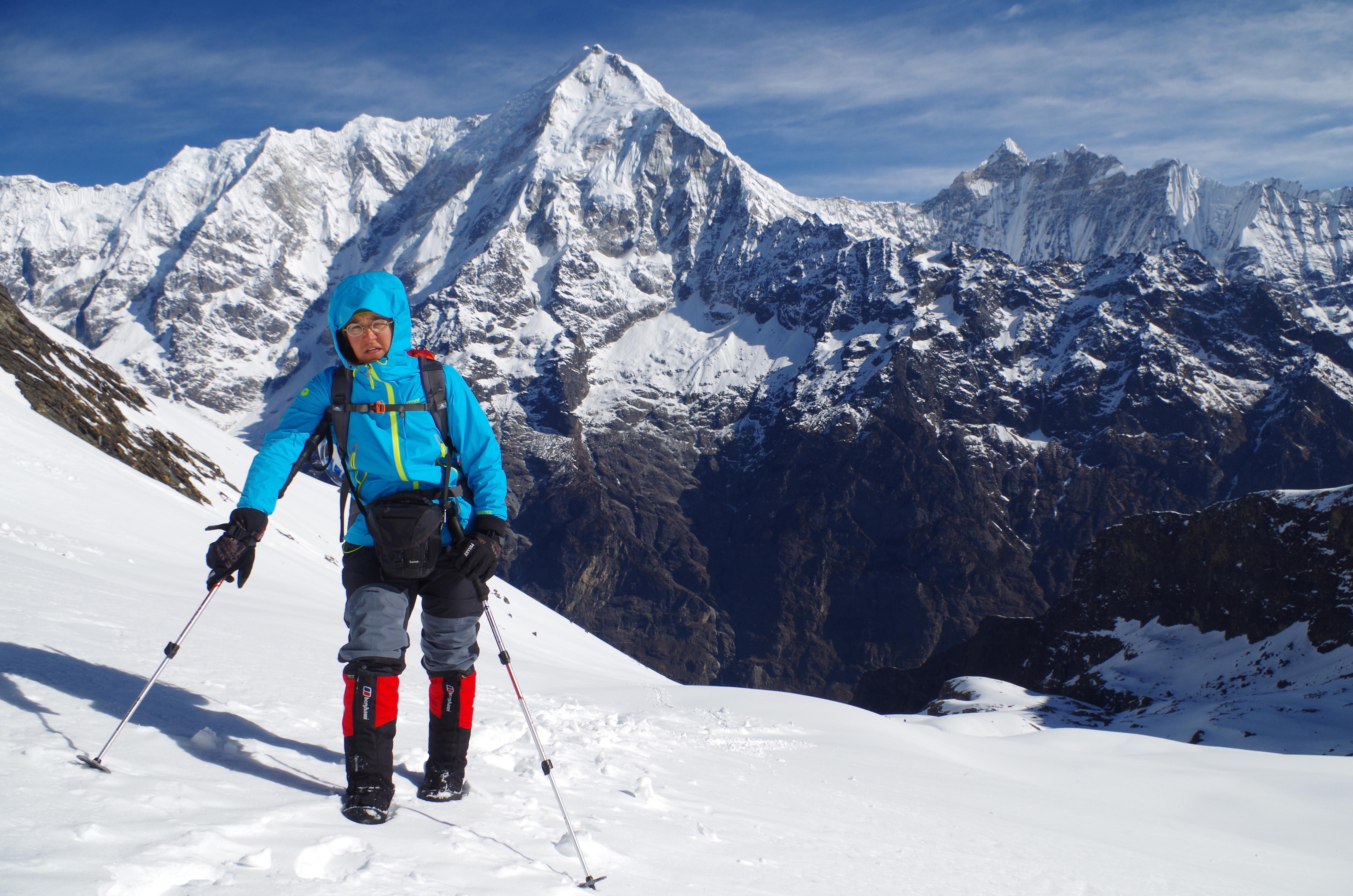 Aufstieg zum Pfeilergipfel Point 5350 m