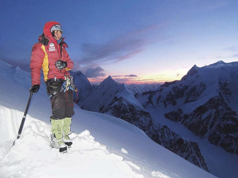 Gerlinde Kaltenbrunner am K2