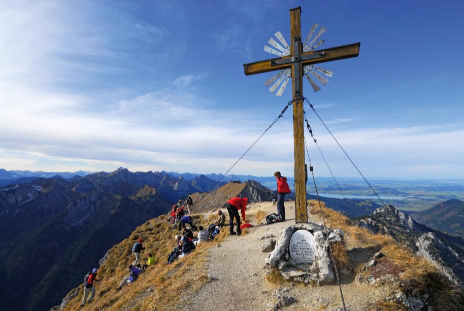 Am Gipfel der Großen Klammspitze