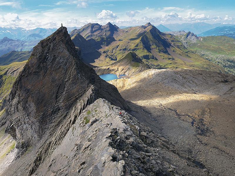 Ein richtiger Klettersteiggipfel: das Schwarzhorn (2928 m) im Berner Oberland