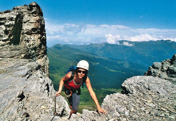 Am Eiger-Rotstock-Klettersteig kommt fast so etwas wie Nordwand-Gefühl auf.