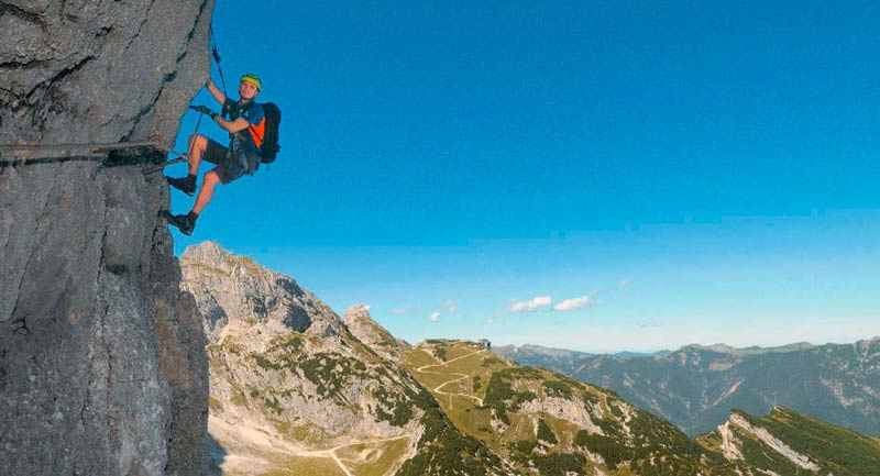 Klettersteig Tegernsee : Der mauerläufer klettersteig im wetterstein bergsteiger magazin