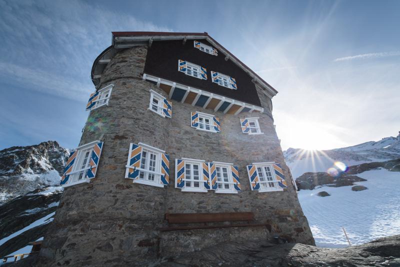 Die Siegerlandhütte im Talschluss des Windachtales