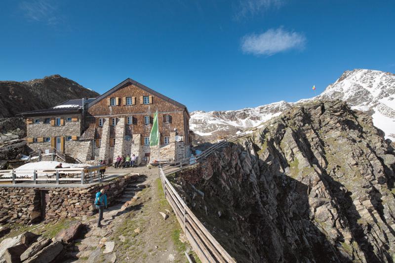 Die Hildesheimer Hütte in den Stubaier Alpen