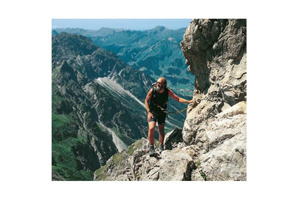 Der Mindelheimer Klettersteig, ein Eisenweg-Klassiker in den Allgäuer Alpen