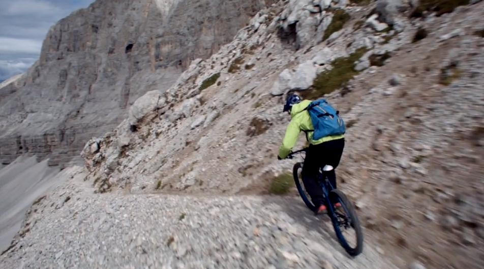 Harald Philipp mit dem MTB am Via Ferrata