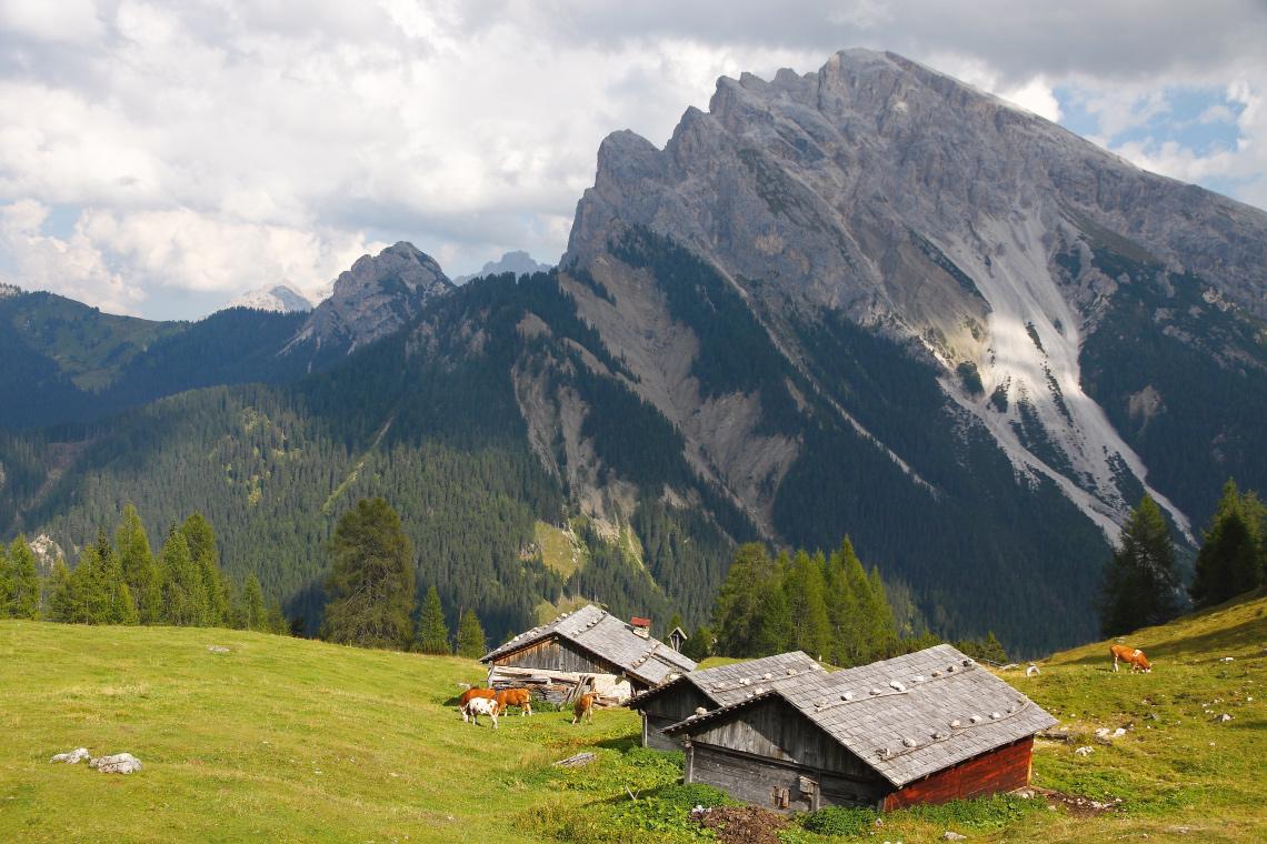 Eine Hochalm im Tourenparadies Pragser Dolomiten