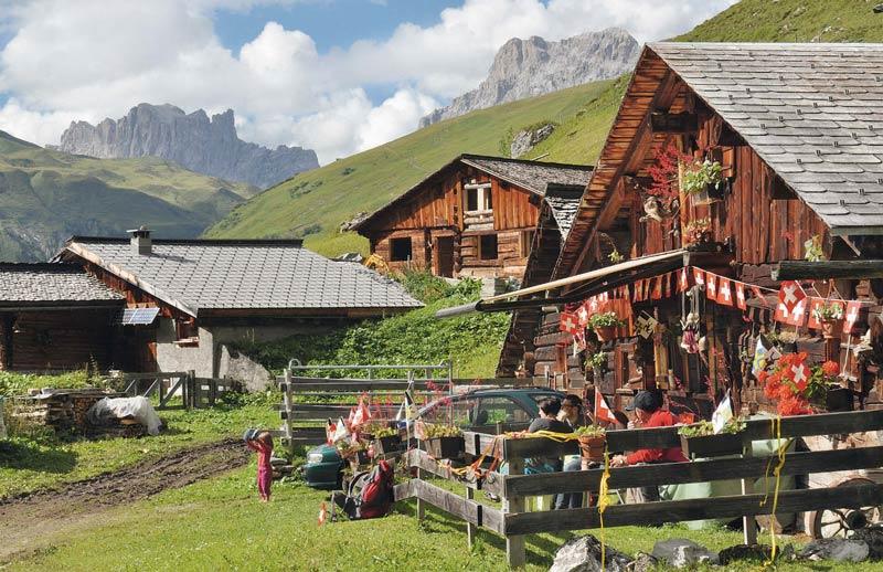 Bewährte Bauweise: Die Walser wussten, wie abgelegene Täler zur Heimat werden.