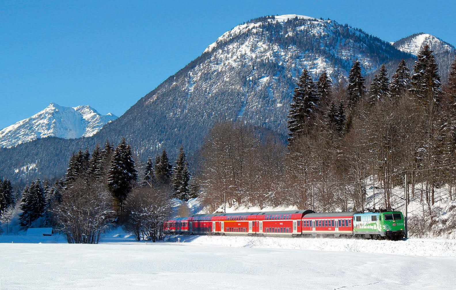 Mit dem Zug zum Winterwandern nach Mittenwald
