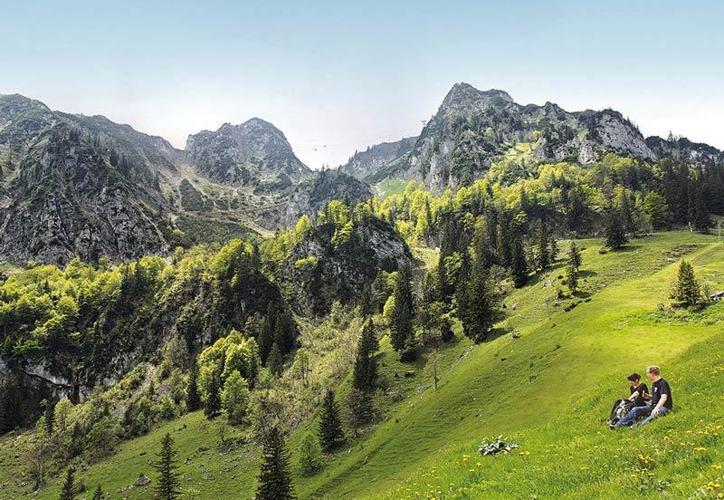 Der Hochfelln ist zwar von Norden ein Seilbahnberg, bietet aber von Osten und Süden schöne Anstiegswege.