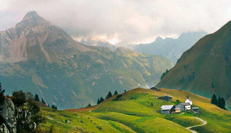 700 Jahre Geschichte: die ehemalige Walser- Siedlung Bürstegg am Arlberg