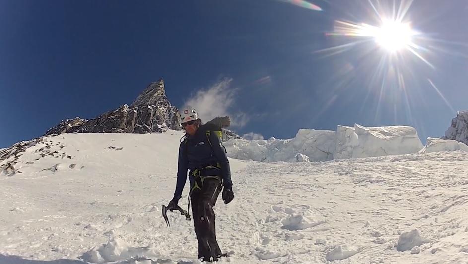 Hansjörg Auer am Mount Reaper