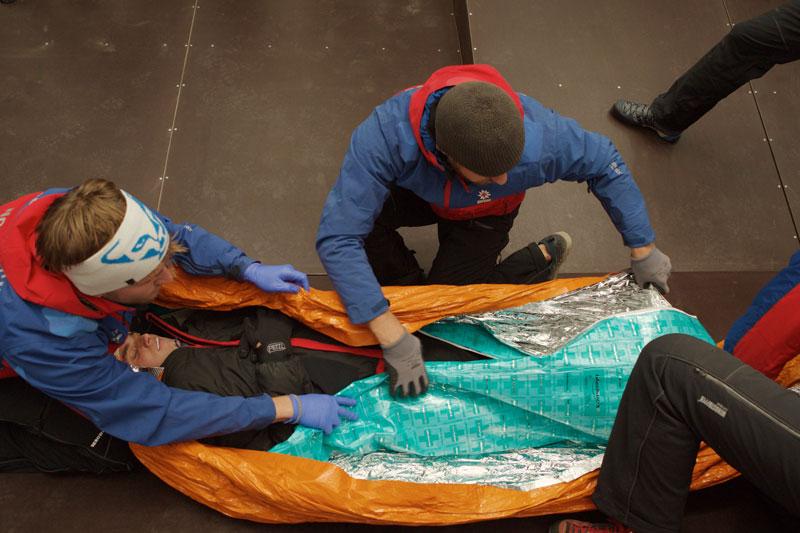 Bergretter der Bayerischen Bergwacht bei der Übung