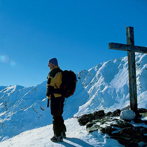 Ein  Blick in die kleine, aber feine Tuxer Skiwelt – hier gibt es lohnende Tourenziele in jeder Schwierigkeit