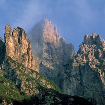 Dolomiten wie aus dem Bilderbuch über dem Val Montanaia