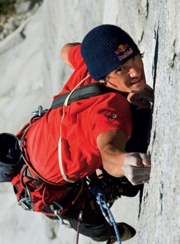 David krallt sich an die winzigen Leisten von »Nunca mas Marisco« am Cerro Trinidad (Foto: Heiko Wilhelm, Red Bull Photofiles/Heiko Wilhelm)