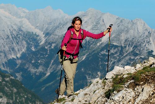 RiIchtiges Gehen mit Trekkingstöcken