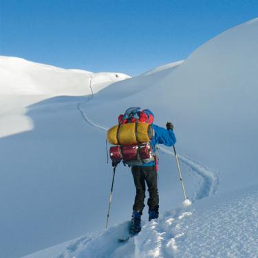 Ideales Heilmittel für Gestresste: Skitour mit Biwak am Großen Daumen