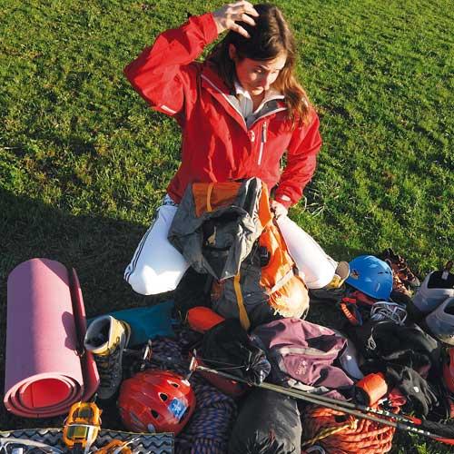 Rucksack packen für jede Art von Bergtour