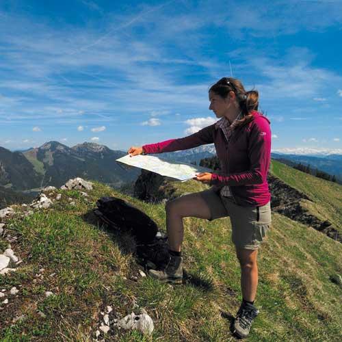 Richtig Kartenlesen - Orientierung in den Bergen.