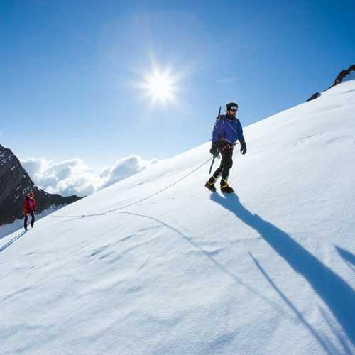Sicher unterwegs am Gletschher