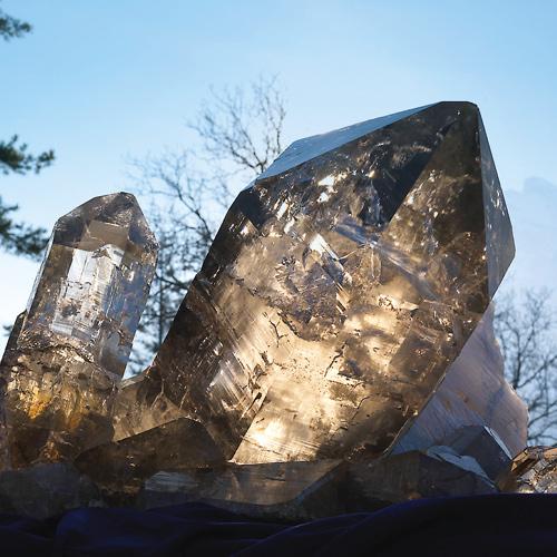 Glasklar: der dreistufige Riesenkristall aus dem Fund von 2008