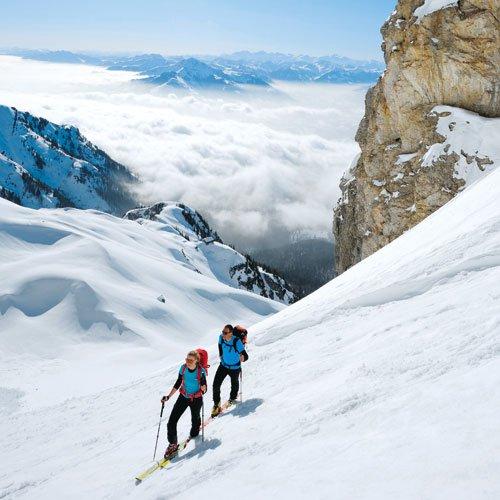 Dies ist erst der Auftakt: Anna und Max beim Aufstieg zur Roten-Rinn-Scharte