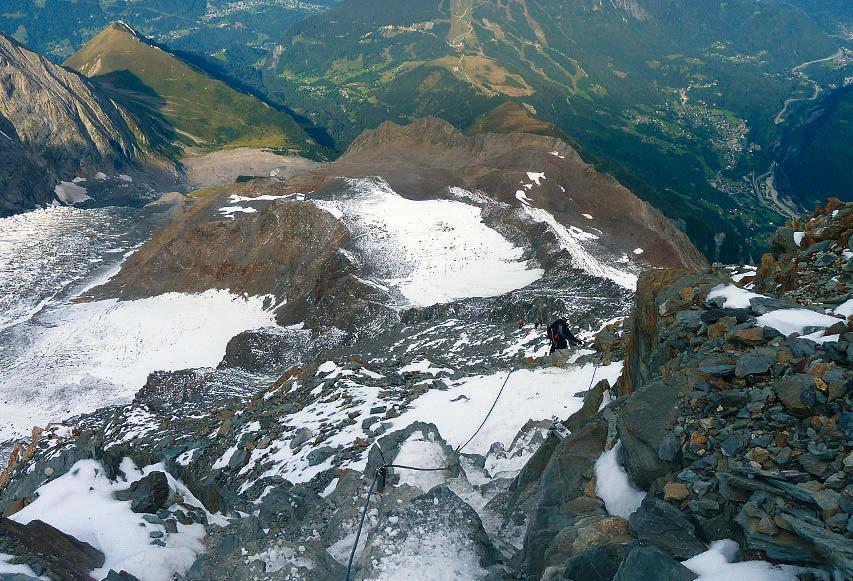 Mont Blanc Abstieg