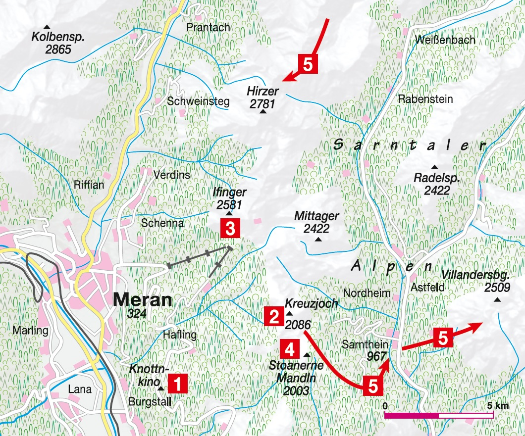Karte Meran
