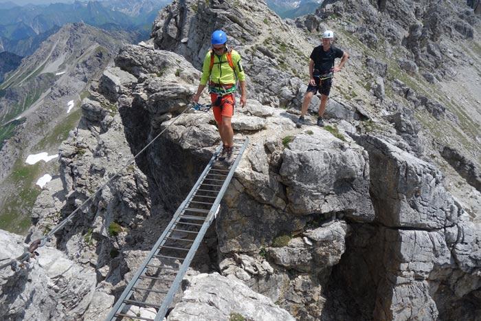 Klettersteig Mindelheimer : Allgäuer klettersteig duett bergsteiger magazin
